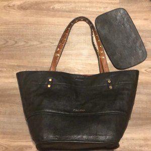 Calvin Klein Reversible Leather Tote 👜